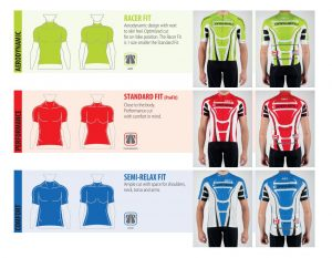 Lost Shores Grand Fondo - 2018 sizing chart