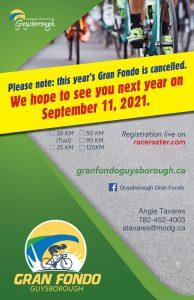 Grand Fondo Guysborough - Cancellation 2020