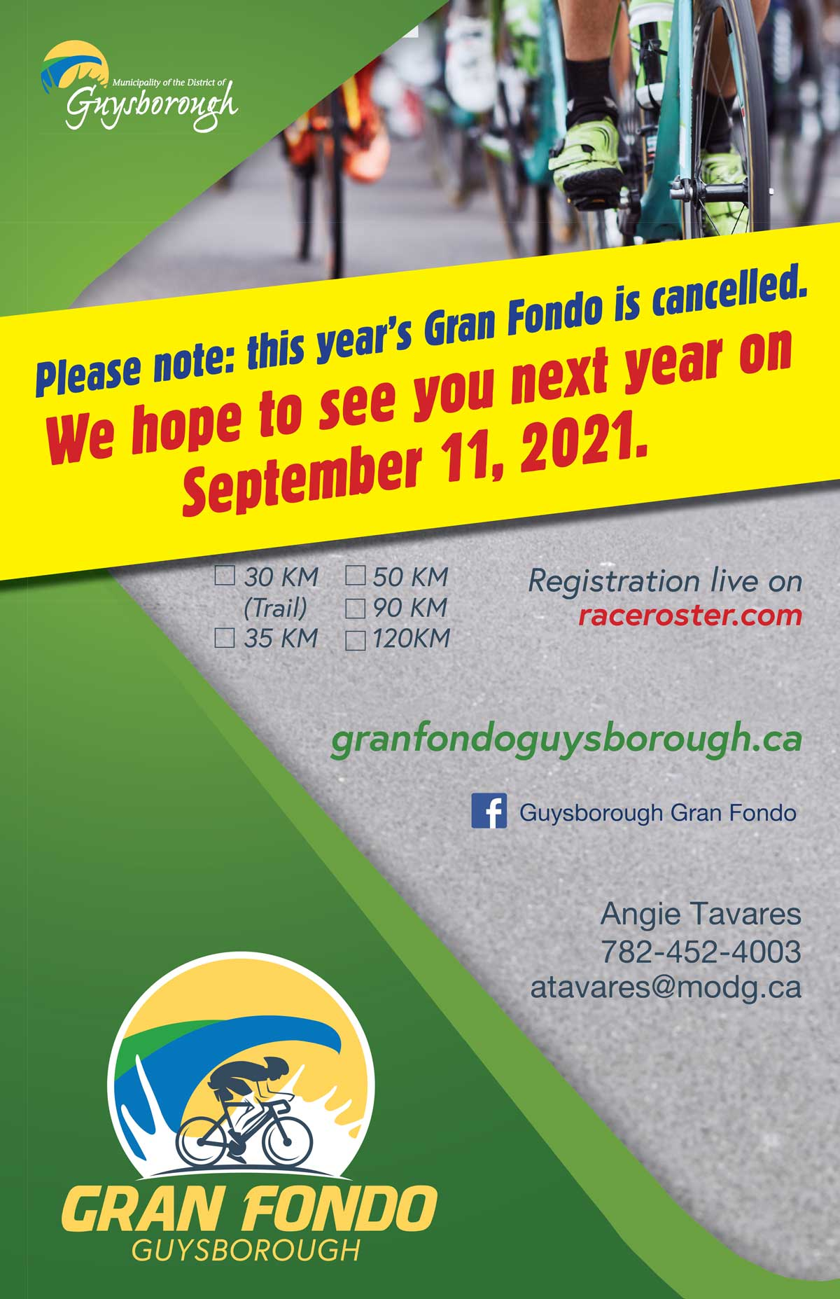 Gran Fondo Guysborough - Cancellation 2020